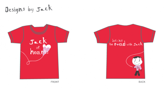Team Jack of Hearts t-shirts